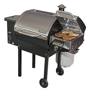 Camp Chef SmokePro DLX PG24S Pellet Box - Grill With Sear Bundle