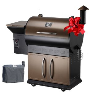 Z Grills Wood Pellet Grill & Smoker with Patio Cover,700 Cooking Area 7 in 1- Grill, Smoke, Bake, Roast, Braise and BBQ with Electric Digital Controls for Outdoor (Grill