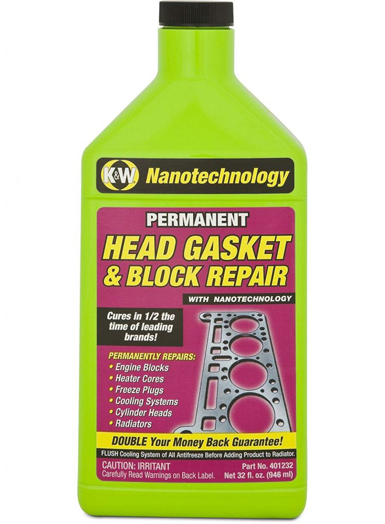 K&W 401232 Permanent Head Gasket & Block Repair with Nanotechnology - 32 Fl Oz