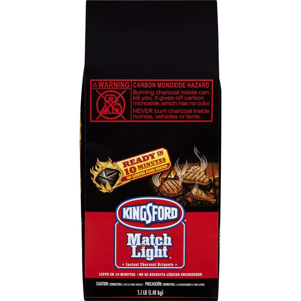 Kingsford Match Light Charcoal Briquettes, 3.1 Pounds (Pack of 6)