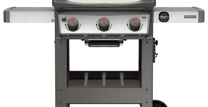 Weber 45060001 Spirit II E-310 Gas Grill LP Outdoor, Ivory
